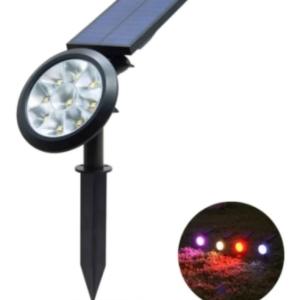 LAMPARA SOLAR COLORES PARA JARDIN