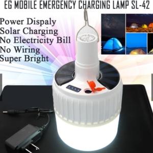 LAMPARA SOLAR MOVIL EMERGENCIA SL-42 RECARGABLE
