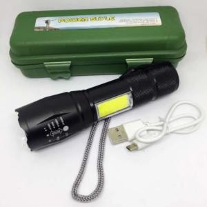 LINTERNA CAMPING TACTICA T6-30 Recargable Ultra Light